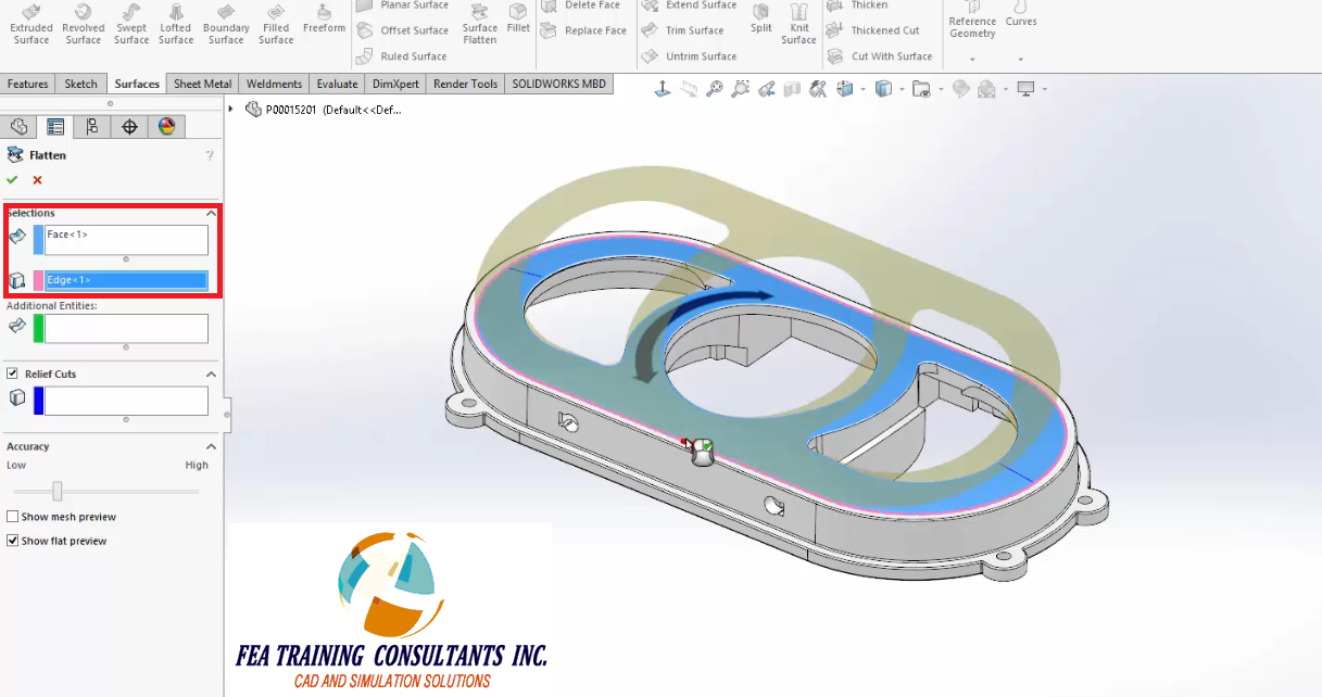 how to draw on curved surface in solidworks
