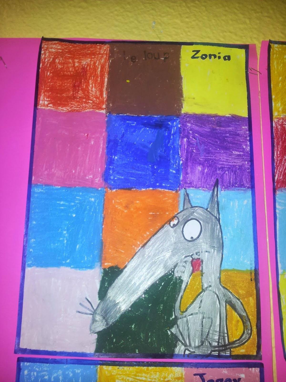 la maternelle de laur 232 ne le loup qui voulait changer de couleur