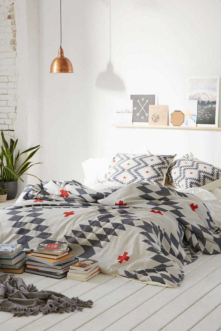 Black Patterned Bedding