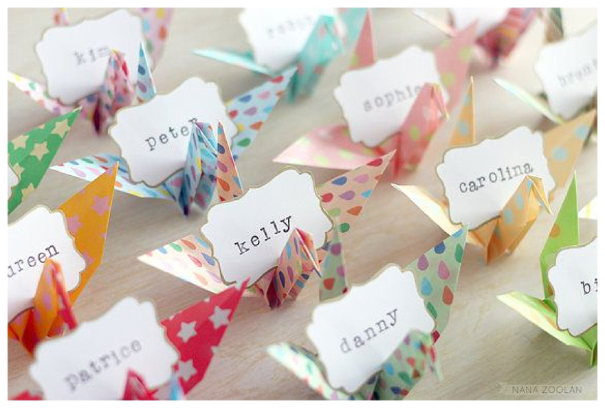 Ten Quirky Original Wedding Place-Setting Ideas