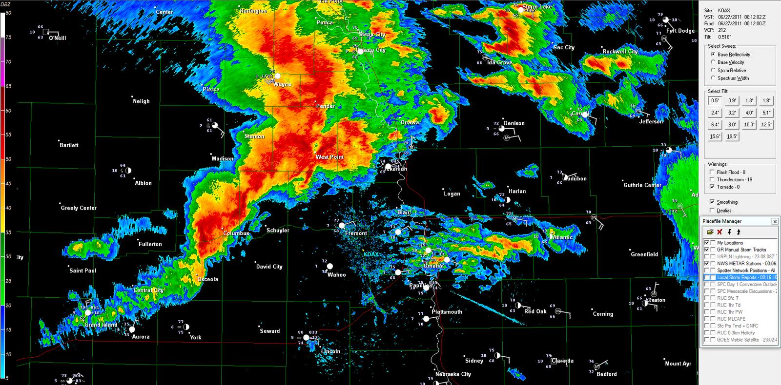 The Original Weather Blog June - Omaha nebraska weather radar