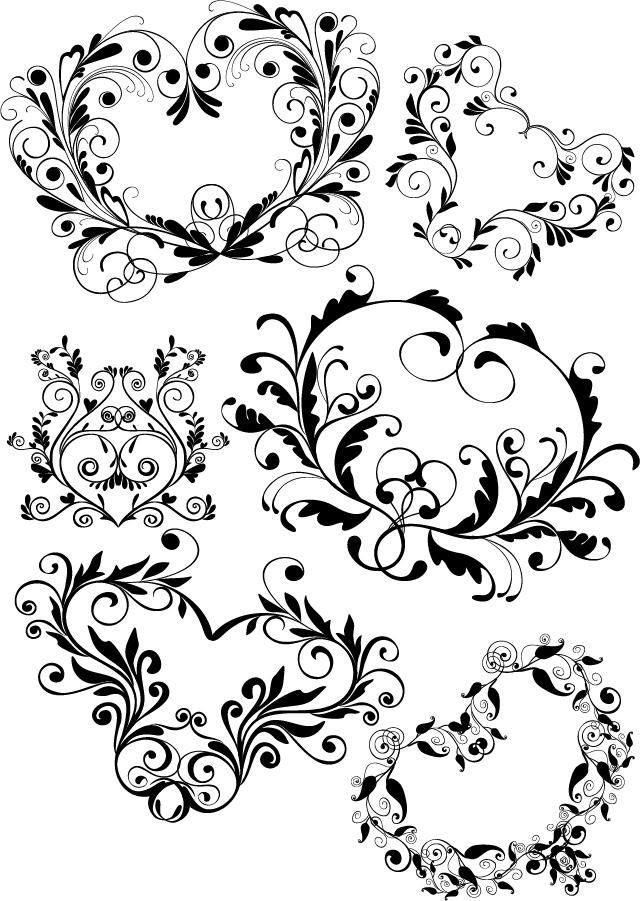 ヨーロッパ調の飾り罫 Variety of practical European-style lace pattern イラスト素材