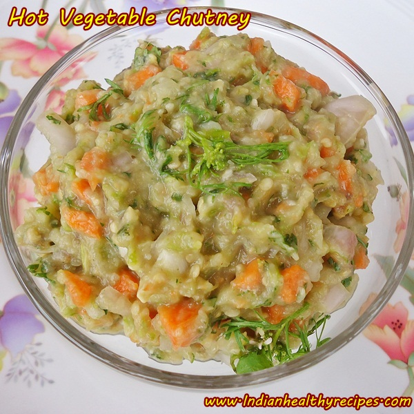 Hot vegetable chutney