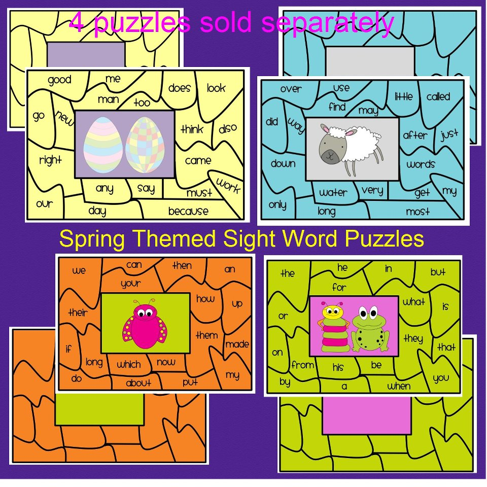 Folder classroom File Word   Sight Puzzle Literacy word in  Games sight activities   Centers Printable the