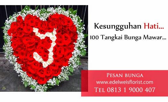 bunga mawar, bunga mawar 100 tangkai, bunga mawar besar, bunga valentine, florist jakarta, toko bunga, toko bunga jakarta, toko bunga jakarta barat
