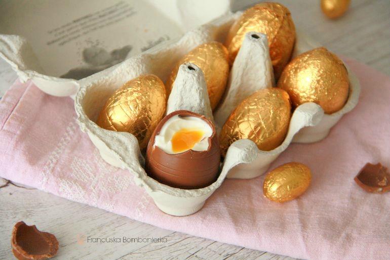 zdrowy deser dla dzieci, czekoladowe jajka, wielkanoc
