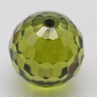 synthetic beads peridot cz