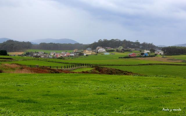 Paisajes desde el mirador de Puerto de Vega-Navia