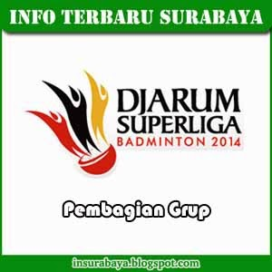 Pembagian Grup Djarum Superliga Badminton 2014