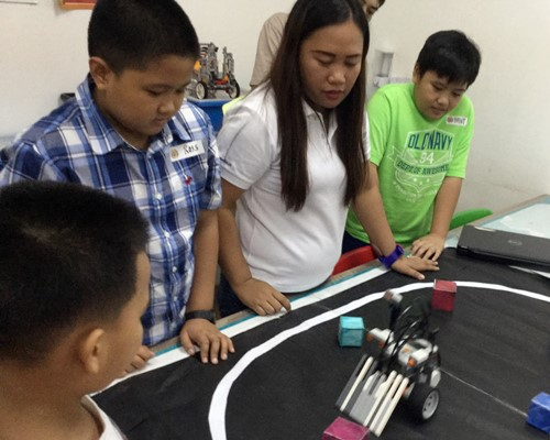 robot testing, FIRST robotics learning center, robotics program, kid activity, robotics philippines,