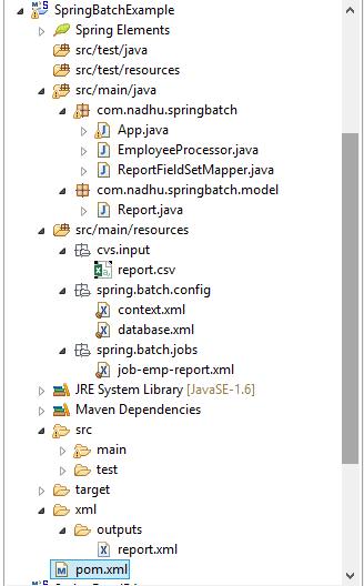 Nadhamuni Blogs: Spring Batch Example -- Read a CSV file, process it ...
