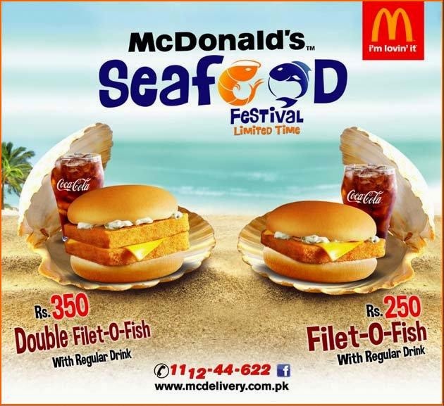 McDonald's SeefooD FeSTiVaL Limited Time Offer in all over PAKISTAN