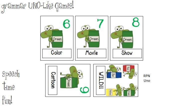 Vocabulary & Grammar Uno-Like Card Games!!!