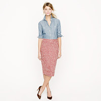 J. Crew No. 2 Pencil Boucle Skirt