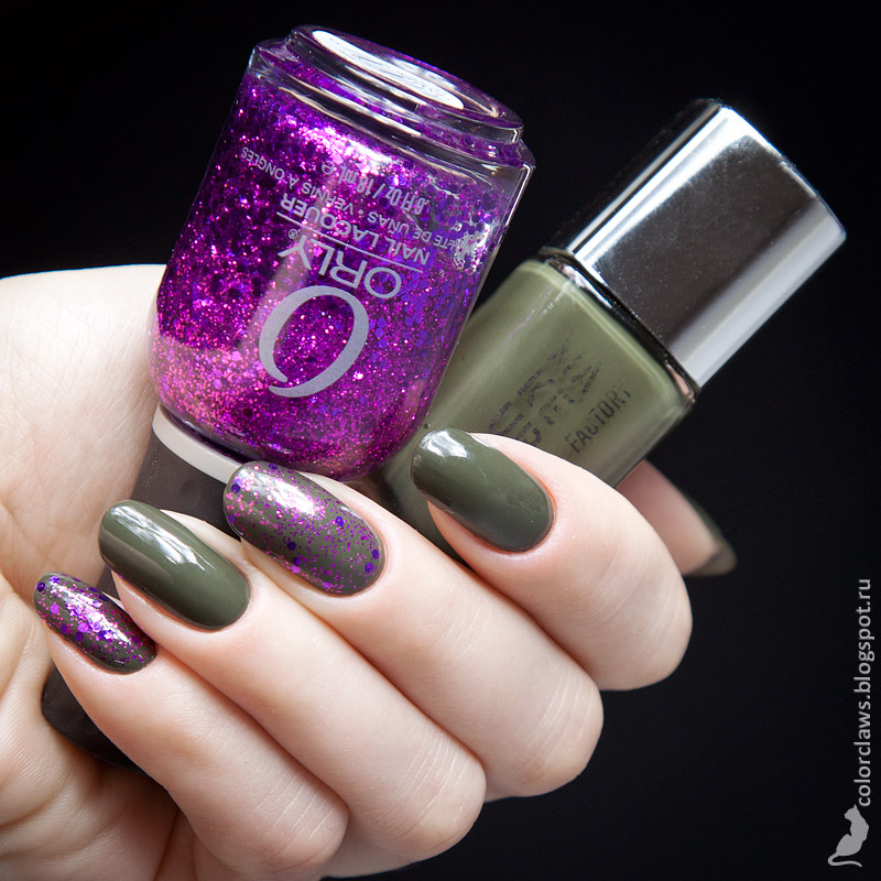 Makeup Factory #510 + Orly Ultraviolet