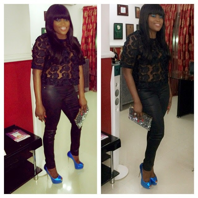 Funke Akindele wows in Black Lace Outfit