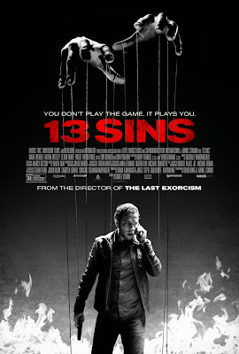 Poster Of Hollywood Film 13 Sins (2014) In 300MB Compressed Size PC Movie Free Download At worldfree4u.com