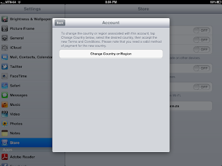 how to change region country in iTunes