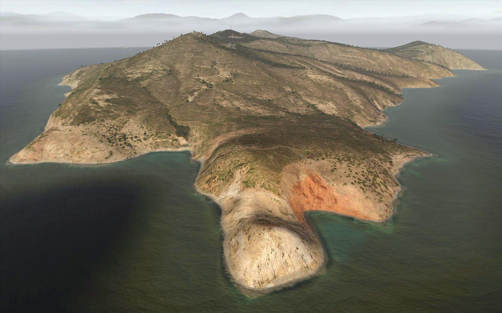 弱者の日記^^ArmA2 イタリア Capraia 島マップ