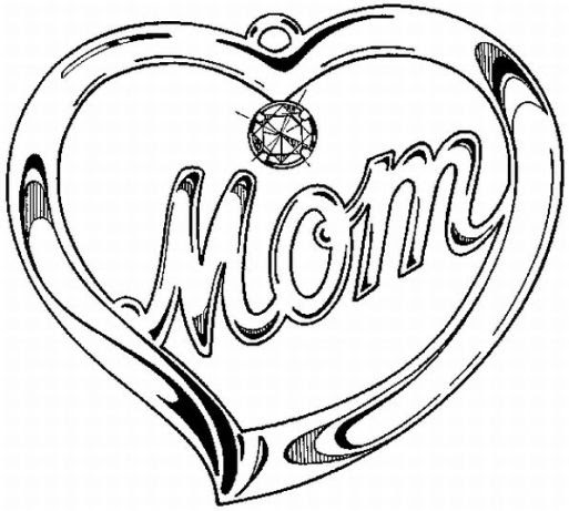 digital dunes beautiful love mothers day coloring pages