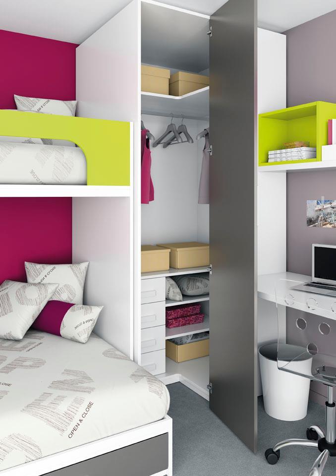 Conoce el nuevo catalogo de literas fijas camas altas con - Camas juveniles compactas ...
