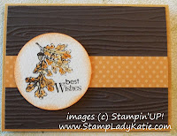 Card with Woodgrain embossing folder and Stampin'UP! Lovely as A Tree Stamp Set. - image left