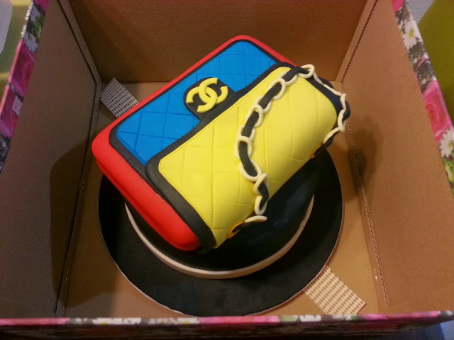 handbag chanel tricolor cake