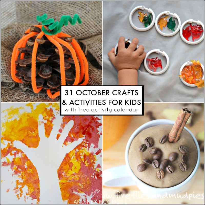31 crafts and activities to keep kids busy for the month of October! Includes a