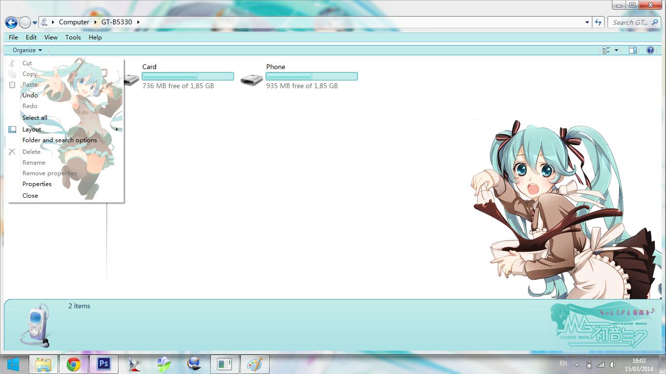 [Theme Win 7] Hatsune Miku - Vocaloid By Bashkara Image 4 - Suck-Style