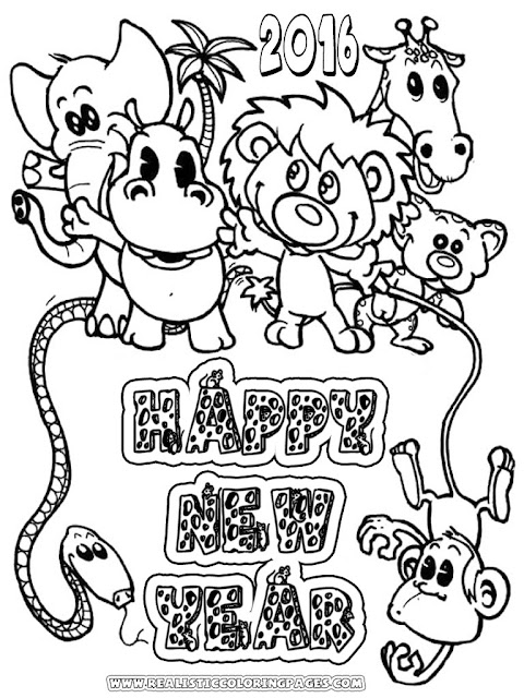 new years eve coloring pages 2016