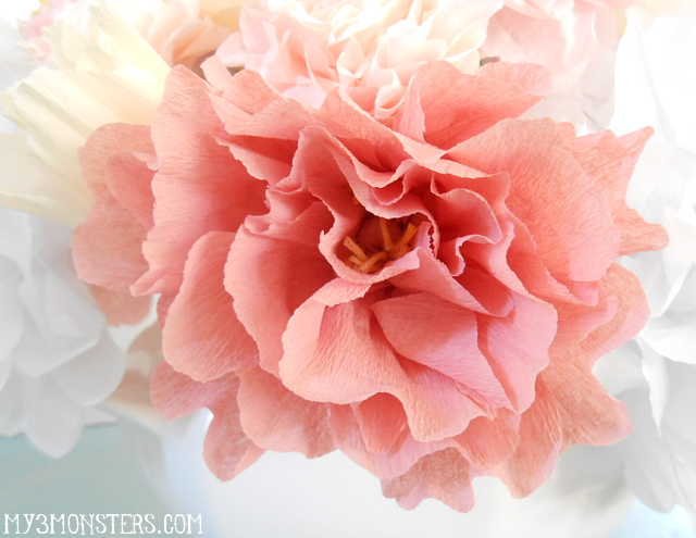 After making the peonies with their 30 some petals each these 6