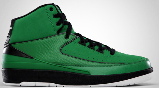 separation shoes e579d bb7bd Air Jordan 2 Retro QF (10 30 2010) 395709-301 Classic Green Black-White