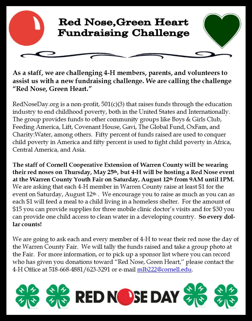Red Nose, Green Heart - 4-H Fundraiser