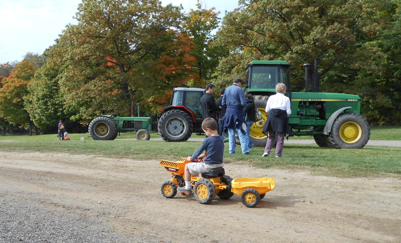 Boy On Tractor : An authentic farm experience farmer gers