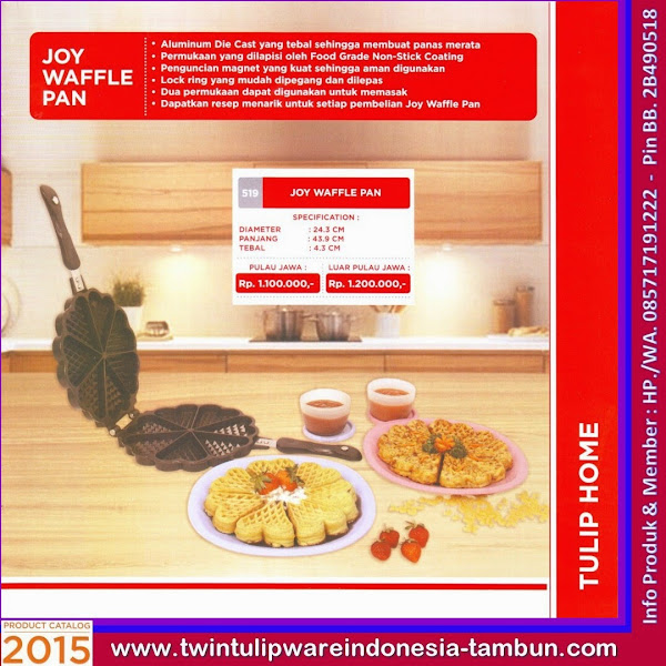 Joy Waffle Pan, Pan Tulipware 2015