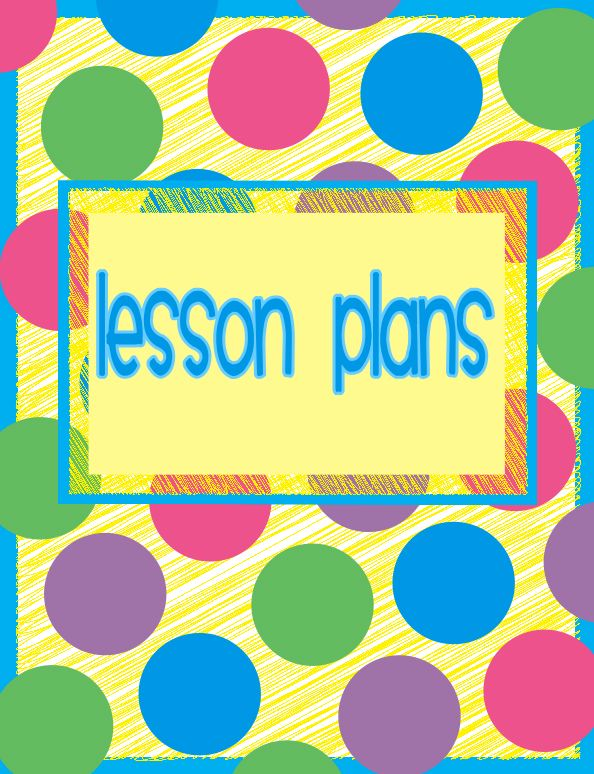 Lesson Plan Book Cover Template : July fun and fearless in first