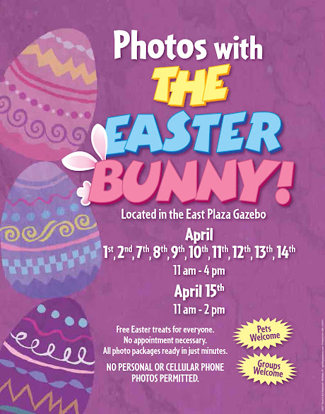 2017 EASTER BUNNY SCHEDULE