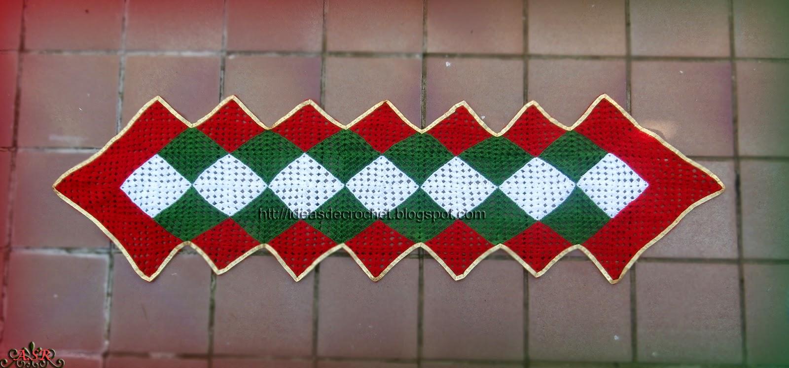 Excepcional Patrón De Crochet Libre Media De La Navidad Imagen ...