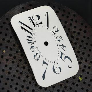 Art deco classic vintage tonneau watch dial restoration