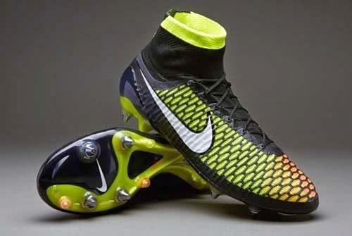 Nike Magista Obra SG Pro with Black/Yellow/White/Orange Colors