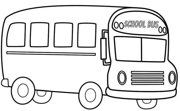 Source Transportation Bus Coloring For Kids