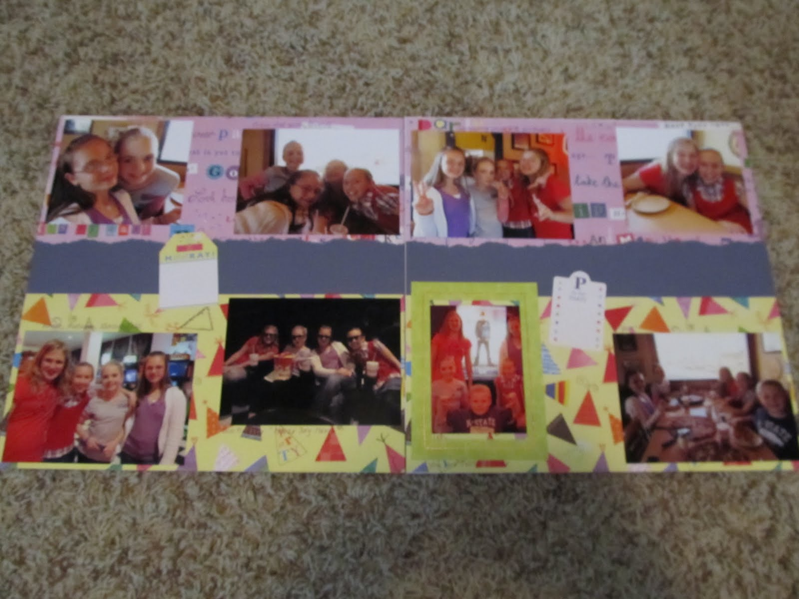 Justin bieber scrapbook ideas - 2nd Page Of This Layout For Her 12th Bday We Started Out W 3 Friends Pizza And Justin Bieber