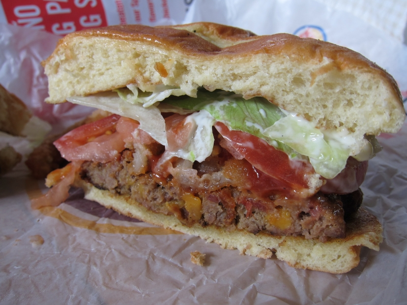 Review: Burger King - Bacon Cheddar Stuffed Burger | Brand Eating
