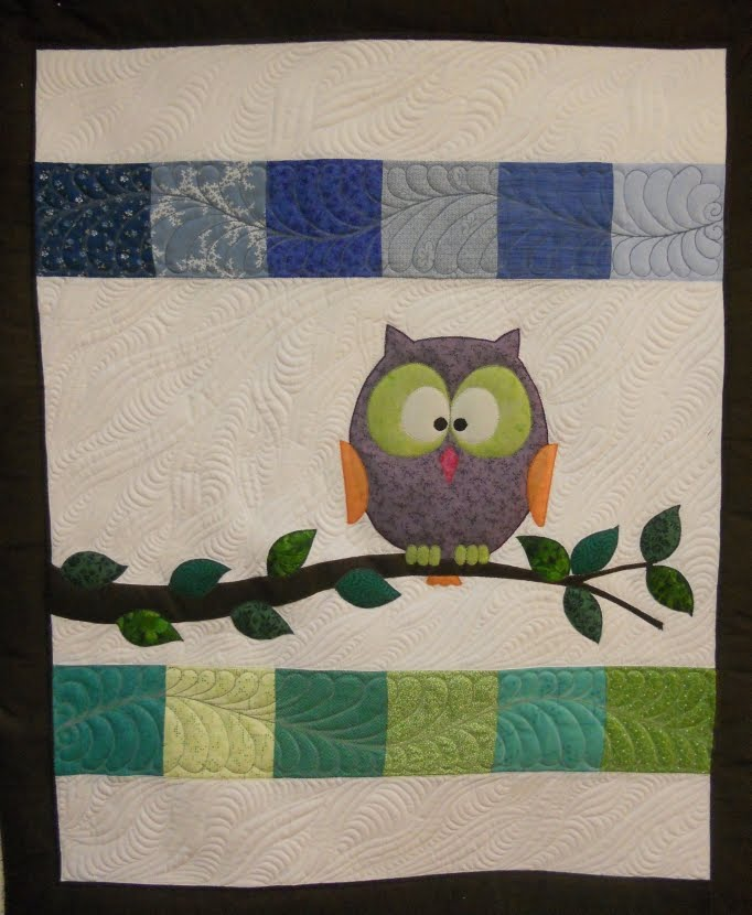 Katie's Quilts and Crafts: Halloween and Owl Baby Quilt : owl applique quilt pattern - Adamdwight.com