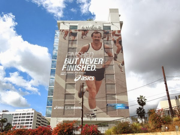 Giant Finished but never finished LA Marathon billboard 2014
