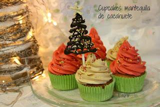 Cupcakes Navideños De Mantequilla De Cacahuetes