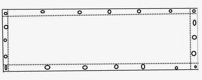 las tiras de lona hechas