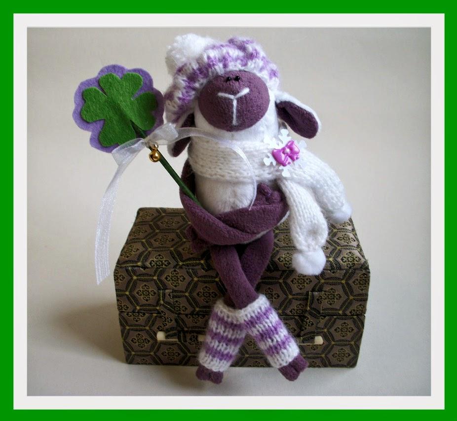 овечка, игрушка, хендмейд, символ 2015