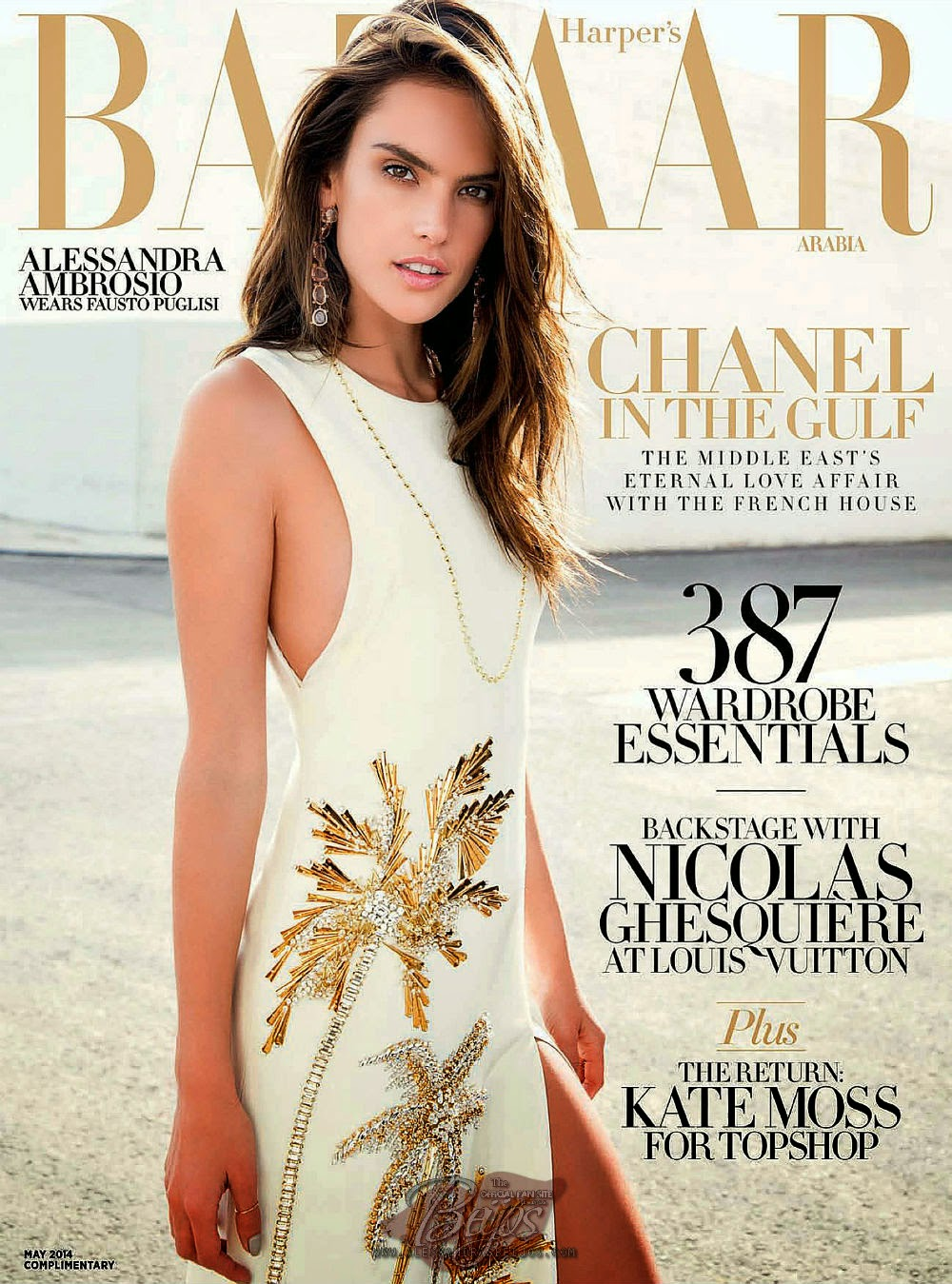 Alessandra Ambrosio by Bleacher & Everard for Harper's Bazaar Magazine,Arabia, May 2014