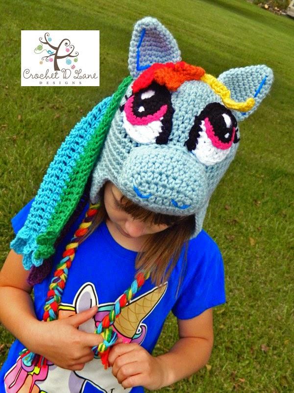 Crochet D Lane Rainbow Dash My Little Pony Hat